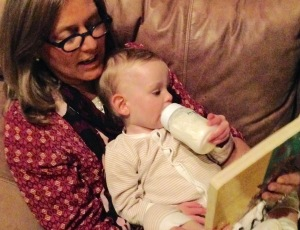Reading to Odin.