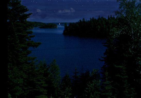 Night Light Lake view